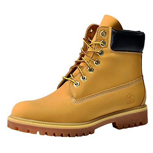 Insun Unisex Erwachsene Stiefel Derby Schnürhalbschuhe Kurzschaft Stiefel Winter Boots Gelb