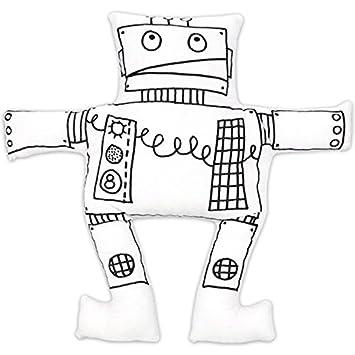 Open En Ville Roboter Kuscheltier Zum Ausmalen 4 Filzstifte