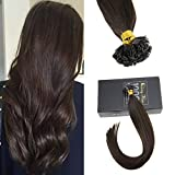 Sunny Flat Tip Keratin Hair Extensions #2 Darkest Brown Fusion Extensions Pre Bonded