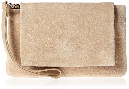 SELECTED FEMME Damen Sfdora Suede Leather Clutch, Braun (Croissant), One Size