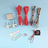 WillBest 3D Printer Parts Cyclops and Chimera 2 in 2 Out hotend with Wire Multi Color Dual Straight-Through Extruder Set