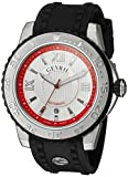 Gevril Seacloud Mens Swiss Automatic Black Rubber Strap Watch, (Model: 3113)