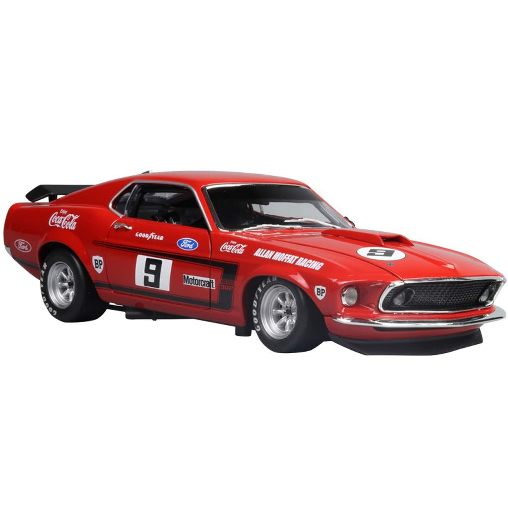 Amazon com gaoqun toy 118 1969 ford mustang no 9 boss 302 alloy car model color red size 25cm10cm7cm home kitchen