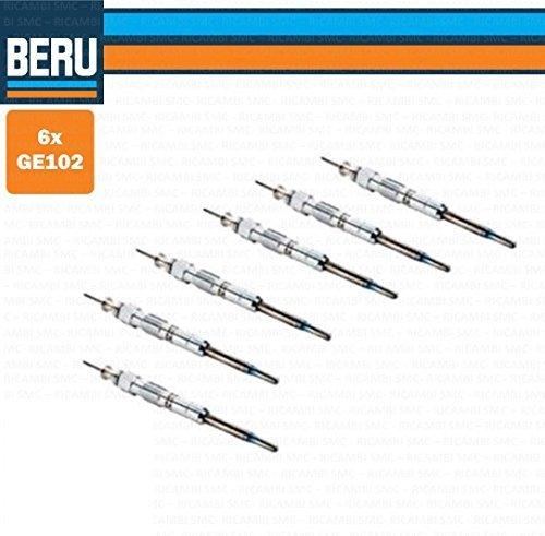 Kit 6/Tornillos 6/candelette originales Beru GE102/