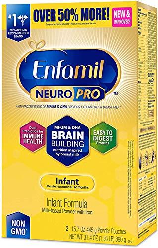 Enfamil NeuroPro Infant Formula – Brain Building Nutrition Inspired by Breast Milk – Powder Refill Box, 31.4 oz