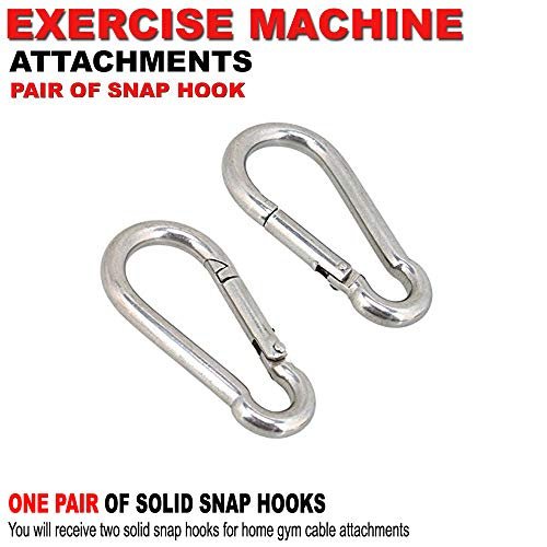FITNESS MANIAC Stainless Steel Spring Snap Hook Carabiner Home Gym Body Building Weightlifting Attachments Machine Equipment Barbell Bar Accessories Weightlifting Accessory Set