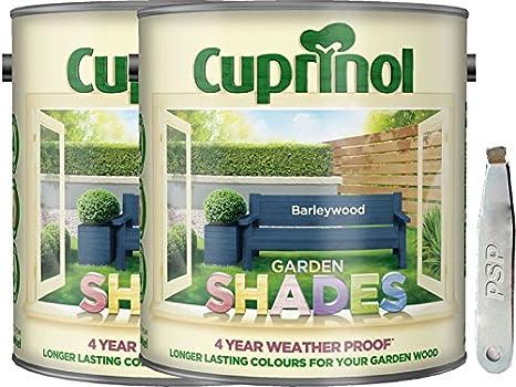 2 unidades de tonos de Cuprinol Garden Barleywood 2,5 L con PSP Metal