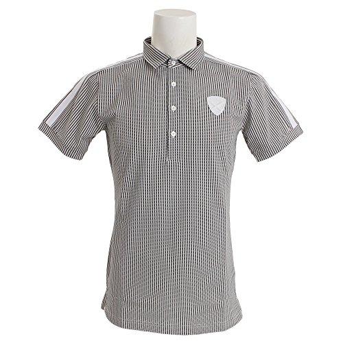 セント?アンドリュース St ANDREWS 半袖シャツ?ポロシャツ 半回縞半袖ポロシャツ ブラック 010 L