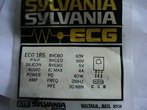 ECG 185 Silicon Audio Power Amp Transistor Television Replacement Part (Transistor Amp)