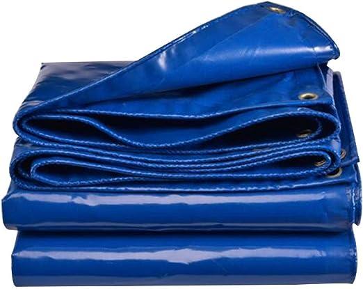 Lona Impermeable Heavy Duty Espesada 0.5mm Pérgola Protector solar Patio Tela de PVC Impermeable Cubierta del automóvil Hebilla de metal, 12 tamaños, personalizable (Color: Azul, Tamaño: 3.85 × 3.85M): Amazon.es: Hogar