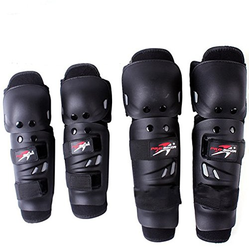 Pro Cycle Labs - SENREAL Motorcycle Sports Racing Protective Knee Elbow Pads Kits For Pro-Biker