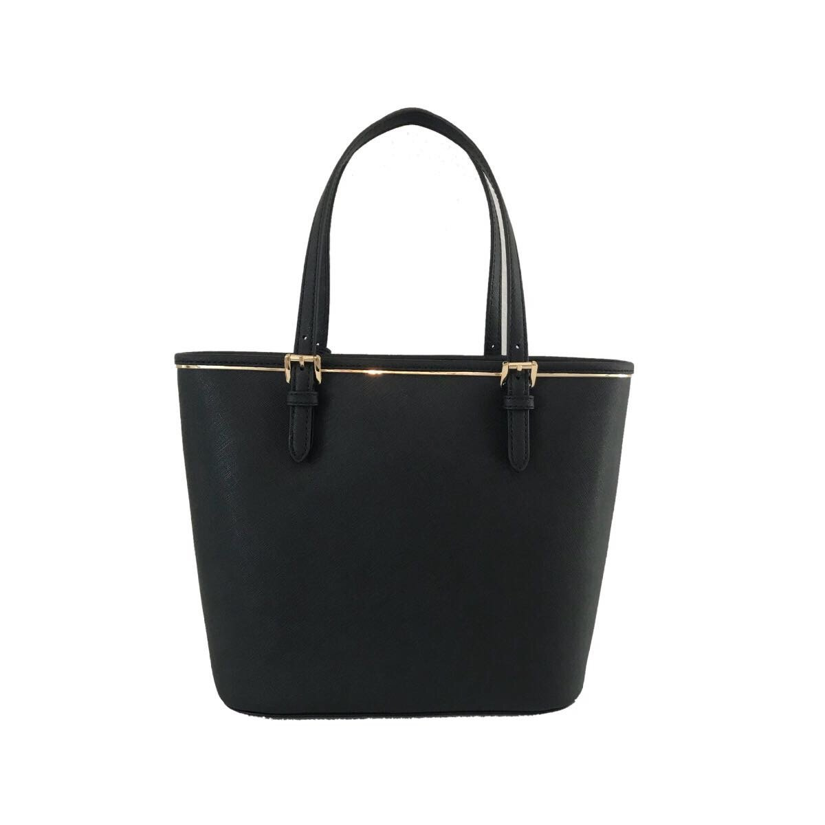 Michael Kors Saffiano Frame MD PKT MF Tote Black Leather by Michael Kors (Image #3)