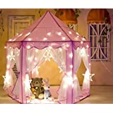 "Kids Indoor Princess Play Tent,VicPow Girls Outdoor Castle Playhouse for Childs Toddlers Gift/Presents,55""x 53""(DxH)-Balls and Blanket Not Included"