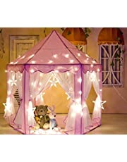 """Kids Indoor Princess Play Tent,VicPow Girls Outdoor Castle Playhouse for Childs Toddlers Gift/Presents,55""""x 53""""(DxH)-Balls and Blanket Not Included"""