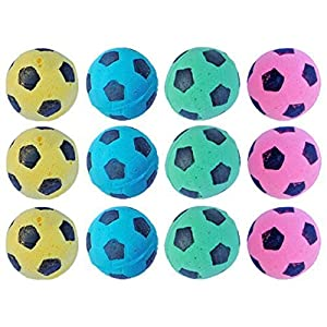 PETFAVORITES Foam Soccer Balls Cat Toys - Pack of 12 23