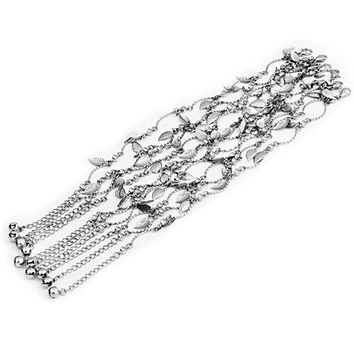 Ecloud ShopUS Leaf Jingle Bell Lady Anklet Chain Ankle Bracelet Link FASHION
