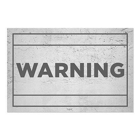 30x20 Basic Gray Perforated Window Decal Warning CGSignLab 2463319/_5gfxp/_30x20/_None