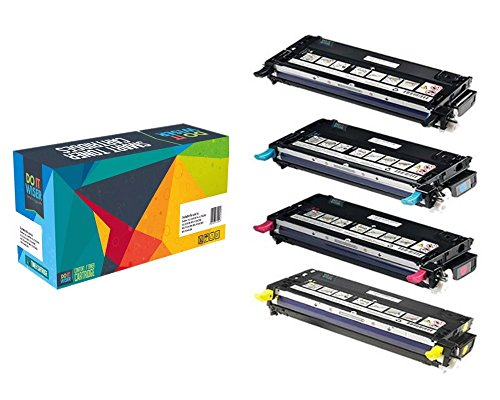 Do it Wiser Remanufactured Toner Cartridge Replacement for Xerox Phaser 6180 6180N 6180DN 6180MFP-D 6180MFP-N (Black, Cyan, Magenta, Yellow, 4-Pack) -