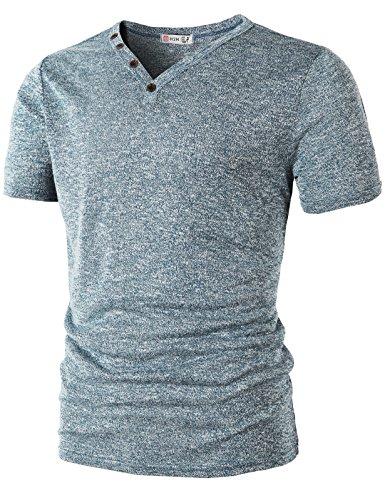 H2H American Henley Sleeve Shirts