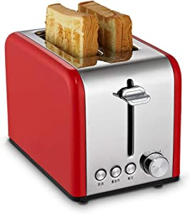 FAFAFA Stainless Steel Electric Bread Maker, Toaster Cake Toast Sandwich Oven Grill. 2 Slice Automatic Breakfast Baking Machine