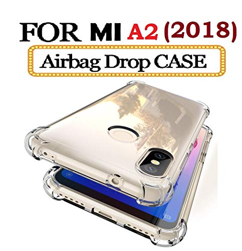 new styles e9924 95496 Lokezeep Anti Drop Back Case Cover for Xiaomi Mi A2 (2018) with Screen and  Camera Protection with Bumper Corner (Transparent)