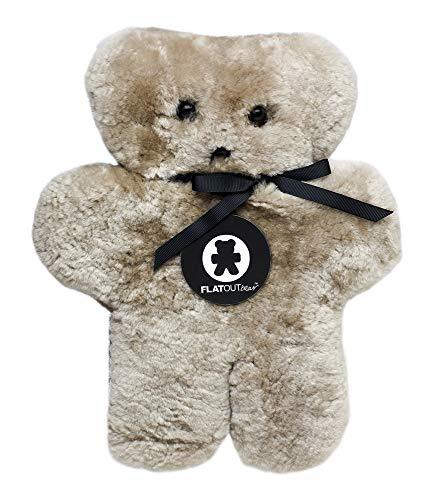 - FLATOUTbear Latte 100% Australian Sheepskin Teddy Bear