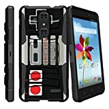 MINITURTLE Case Compatible w/ZTE Grand X4/ZTE Zmax One/ZTE Blade Spark [Case with Kickstand + Belt Clip Combo] [Slim Heavy Duty Protection][Air Cushion Technology] – Game Controller Retro For Sale