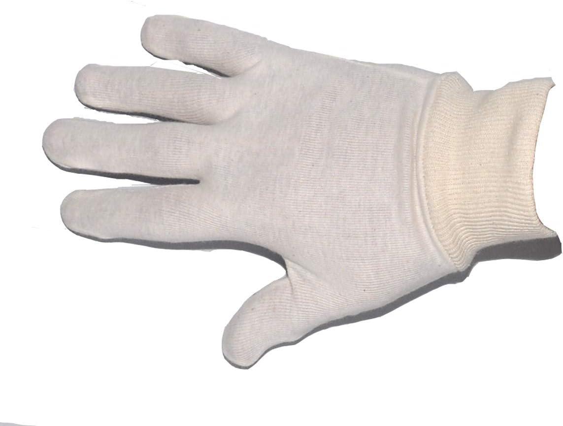 Adult Cotton Stockinette Gloves-Medium-10prs