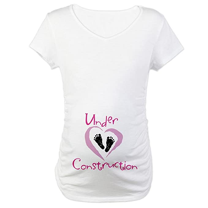 7d91c49ad CafePress Baby Girl Cotton Maternity T-shirt, Cute & Funny Pregnancy Tee  White