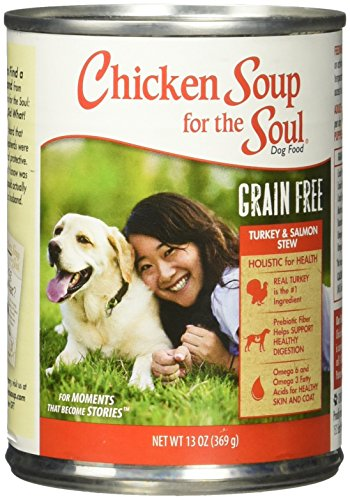 Chicken Soup For The Soul 819239011288 Grain-Free Turkey Salmon Stew Dog Food, One Size/12-13 Oz