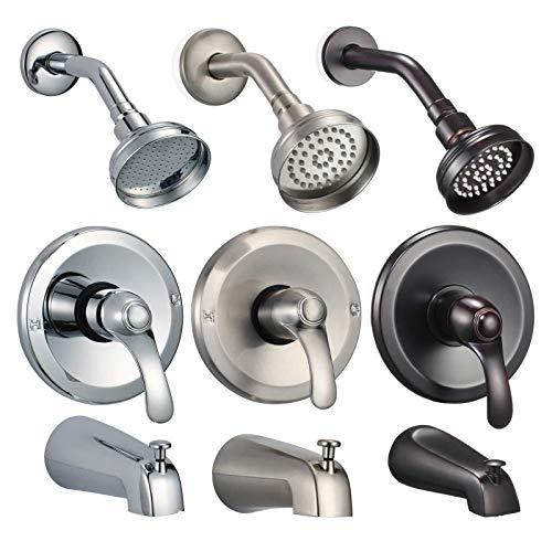 (FREUER Ristorare Collection: Showerhead, Valve & Tub Spout, Polished Chrome)