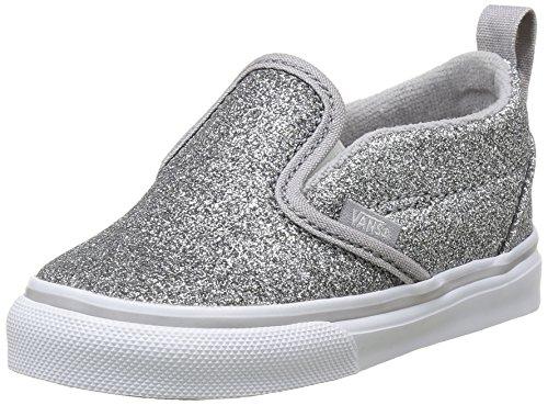 Vans Slip-On V, Botines de Senderismo para Bebés, Plateado (Shimmer), 19 EU: Amazon.es: Zapatos y complementos