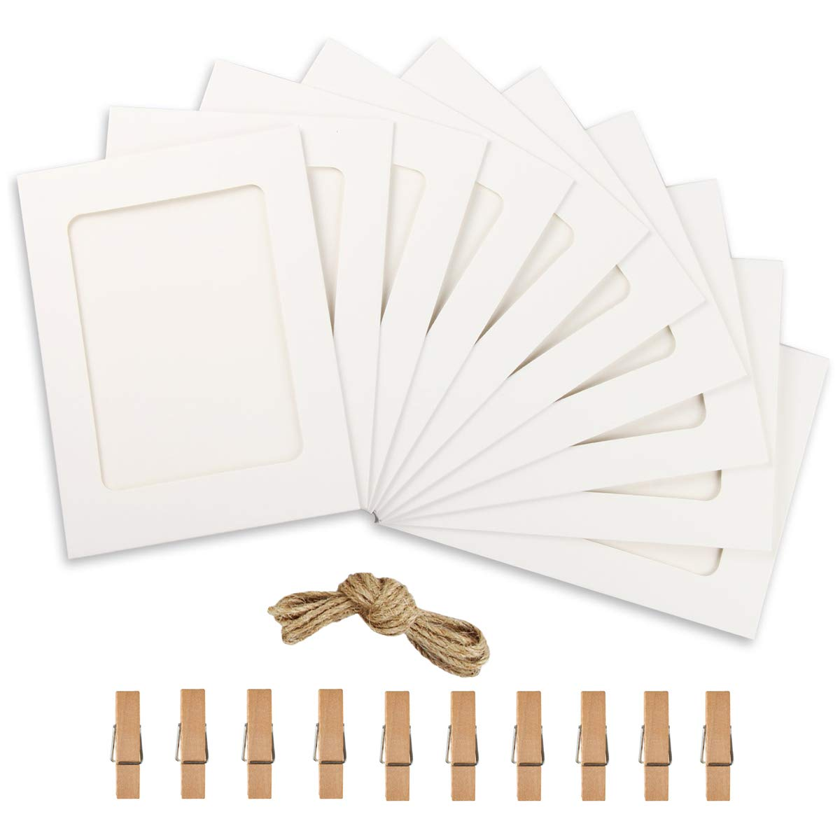 Paper Photo Frame 4x6 Kraft Paper Picture Frames 10 PCS DIY ...