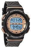 SPORTECH Unisex | Black & Rose Gold Digital Water-Resistant Sports Watch | SP12706