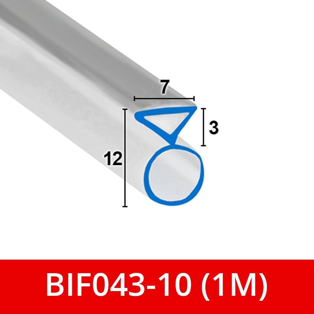 Suave y flexible triángulo de goma burbujas para mampara de ducha. Para puertas plegables Bi se adapta a un canal de 7 mm BIF043: Amazon.es: Bricolaje y herramientas