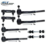 DLZ 8 Pcs Front Kit-Inner Outer Tie Rod End Adjusting Sleeve Sway Bar Compatible with 1985-1989 Chevrolet Astro GMC Safari 1990-2005 Chevrolet Astro RWD GMC Safari RWD 1977-1996 Chevrolet Caprice