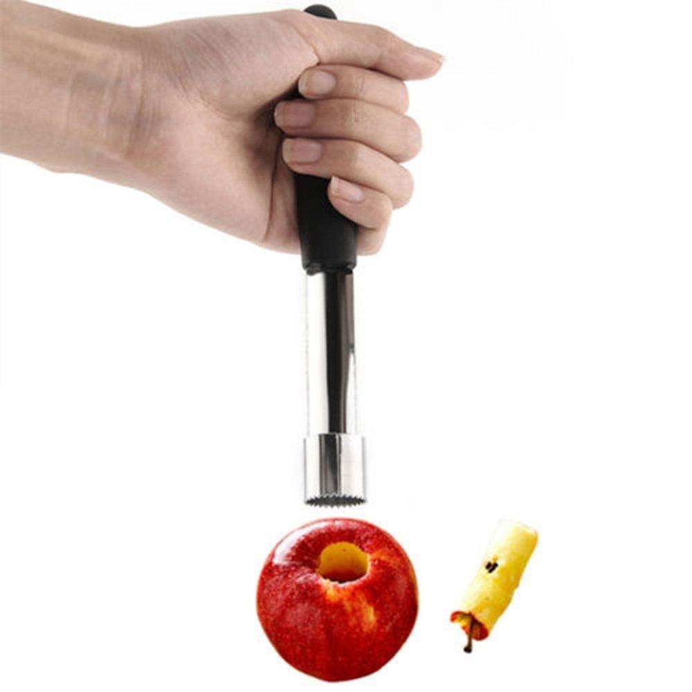 Random Color Bluelans/® Stainless Steel Handled Easy Twist Fruit Apple Corer Kitchen Tool