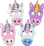12 Mythical Unicorns Foam Party Masks Costume Accessory
