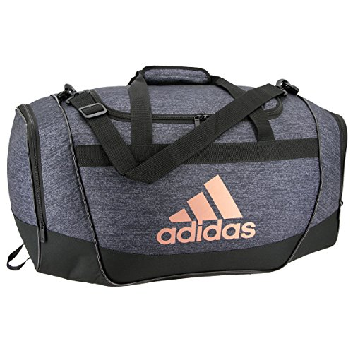 adidas Defender II Small Duffel Bag, One Size, Black Jersey/Black/Bronze