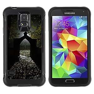 Suave TPU Caso Carcasa de Caucho Funda para Samsung Galaxy S5 SM-G900 / Gate Light Halloween Dark / STRONG