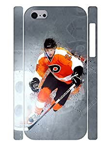 Artful Theme Smart Phone Case Muscular Person Ice Hockey Athlete Pattern Snap On Case Cover for Iphone 5c (XBQ-0226T) wangjiang maoyi
