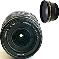Canon 18-135mm IS STM Lens (WHITE BOX) + High Definition Wide Angle Auxiliary Lens