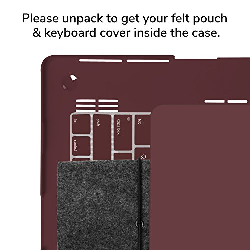 GMYLE 3 in 1 Bundle Burgundy Red Set Matte Plastic Hard Case for OLD MacBook Retina Display Pro 13 Inch NO CD-ROM (A1502/A1425,Version 2012-15) & Water Repellent Laptop Sleeve with Keyboard Skin by GMYLE (Image #7)