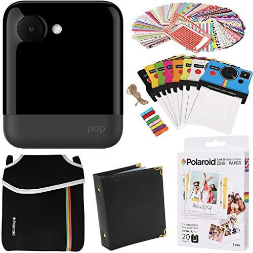 Polaroid POP 2.0 Instant Camera (Blue) Gift Bundle + Zink Paper (20 Sheets) + Pouch + 100 Sticker Border Frames + Hanging Frames + Album