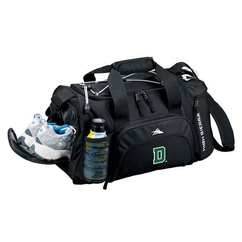 CollegeFanGear Dartmouth High Sierra Black Switch Blade Duffel Primary Mark