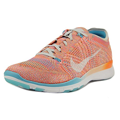 new products a3bdc 54982 Galleon - Nike Women s Free Tr Flyknit Running Shoe TOTAL ORANGE WHITE-GAMMA  BLUE-PURE PLATINUM 9.5