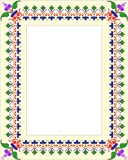 Picture Matting-Flower Leaf Pattern-Etched Vinyl Stained Glass Film, Static Cling Photo Frame Decal