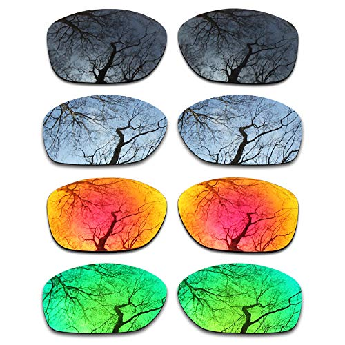 ToughAsNails Set of 4 Polarized Replacement Lenses for Oakley Pit Bull ()