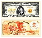 Set of 50 Bills - $10,000.00 Ten Thousand Dollar Gold Certificate Novelty Bill