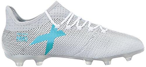 Adidas Mens X 17.2 Fg Scarpa Da Calcio, Grigio / Vero Corallo / Nucleo Nero, 7,5 M Di Noi Bianchi / Energia Blu / Grigio Chiaro